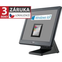 AerPOS PP-9635AV, 4GB, 120GB SSD, Win 10 IoT, rámeček, černý