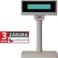 LCD zákaznický displej Virtuos FL-2024LW 2x20, USB, 5V, béžový