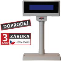 LCD zákaznický displej Virtuos FL-2024LB 2x20, USB, 5V, béžový