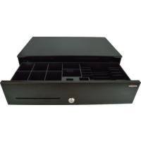 Pokladní zásuvka SK-500C - s kabelem, pořadač 6/8, 9-24V, černá