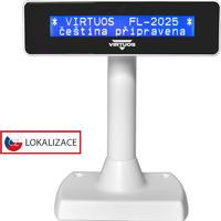 LCD zákaznický displej Virtuos FL-2025MB 2x20, serial, bílý