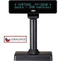 VFD zákaznický displej Virtuos FV-2030B 2x20 9mm, USB, černý
