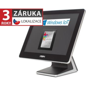 """AerPOS PP-9635BV, 15"""", 4GB, 120GB SSD, Win 10 IoT, bez rámečku, černý  - 1"""