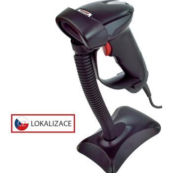Laserová čtečka Virtuos HT-900A, USB, stojánek, černá  - 1