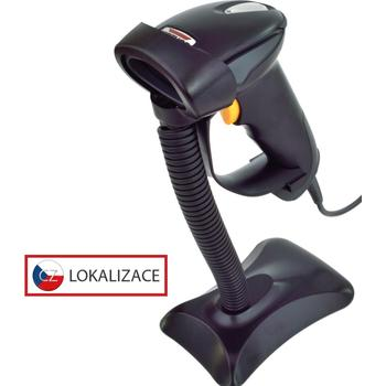 CCD čtečka Virtuos HT-310A, dlouhý dosah, USB, stojánek, černá  - 1