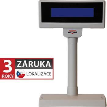 LCD zákaznický displej Virtuos FL-2024MB 2x20, serial, 12V, béžový  - 1
