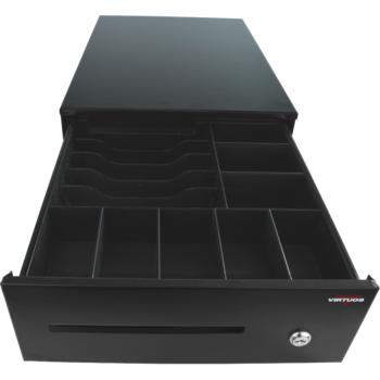 Pokladní zásuvka SK-325C - s kabelem, pořadač 6/8, 9-24V, černá  - 1