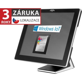 """AerPOS PP-9617BV, 17"""", 4GB, 120GB SSD, Win 10 IoT, bez rámečku, černý  - 1"""