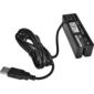 Třístopá čtečka magnetických karet MSR-100A, USB-COM, černá - 2/3