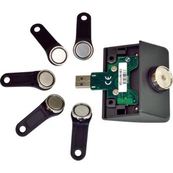 Čtečka iButtonů pro XPOS + 5 klíčů, USB (emulace RS232), šedá  - 2