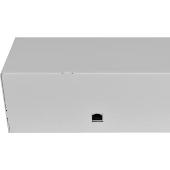 Pokladní zásuvka C430C s kabelem, kov. držáky, nerez panel/béžová  - 3