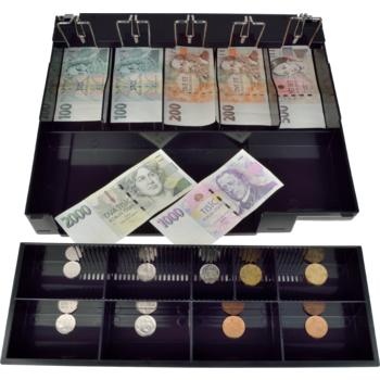 Plastový pořadač na peníze pro C410/C420/C430, kovové držáky bankovek  - 3