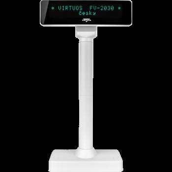 VFD zákaznický displej Virtuos FV-2030W 2x20 9mm, serial, bílý  - 3