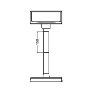 Plastová noha 150 mm pro LCD a VFD displeje Virtuos, 1ks, béžová  - 4