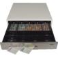 Pokladní zásuvka C430C s kabelem, kov. držáky, nerez panel/béžová - 4/6