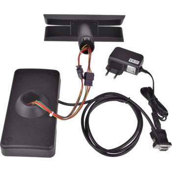 Oboustranný LCD zákaz. displej Virtuos FL-730MB 2x20, serial, černý  - 5