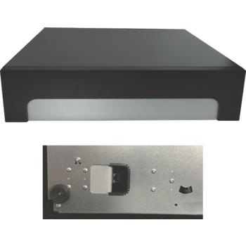 Pokladní zásuvka C425C - s kabelem, kovové držáky, 9-24V, černá  - 6