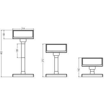 VFD zákaznický displej Virtuos FV-2030B 2x20 9mm, USB, černý  - 7